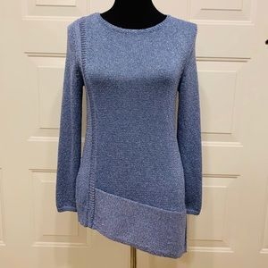 Chico's Size 0 Blue Sparkly Long Sleeve Sweater
